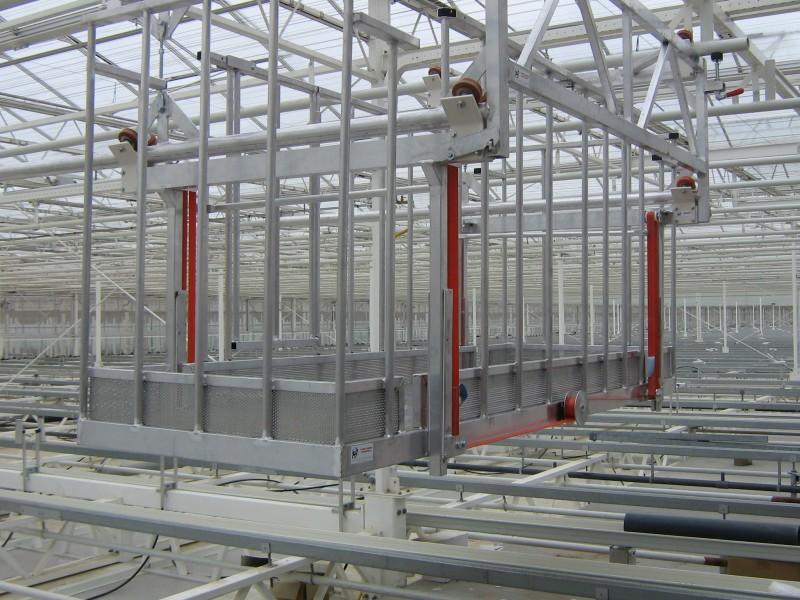monorail platform of overgewaswagen voor onderhoud en gewasinspectie