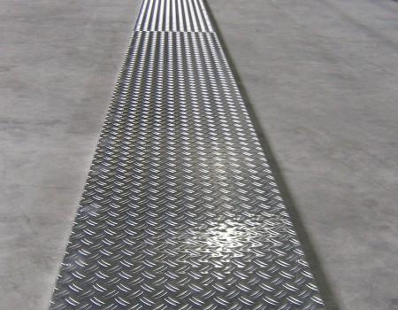 Das Gewächshausgerüstbretter mit Aluminium-Riffelblech – 6000 x 500 – 35 kg