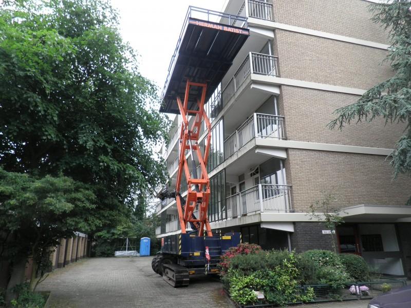 Batist kozijn renovatie hoogwerker