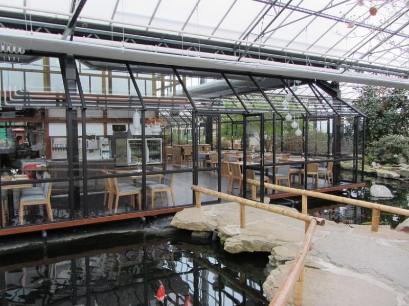 Watertuin Naaldwijk glazen overkapping