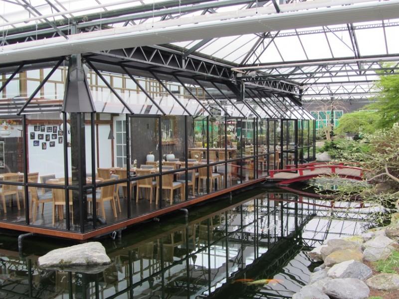 Aluminium glas overkapping paviljoen horeca