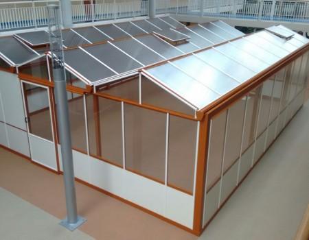 Glasoverkapping binnen