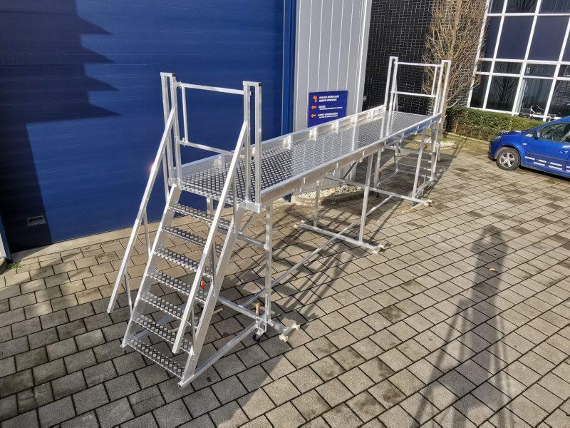 Aluminium werkplateau, werken op hoogte
