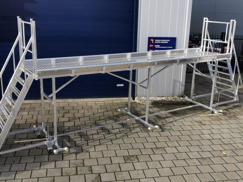 Aluminium verrijdbaar werkplateau, werken op hoogte