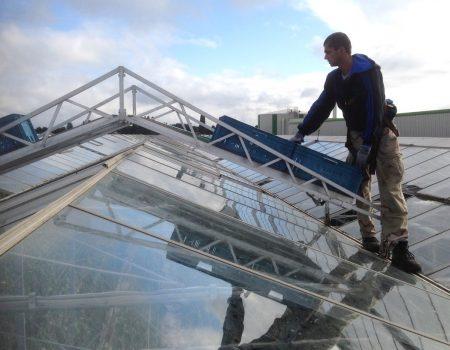 Batist Venlo reparatie dekkar 3.20m en 4.00m kap kapot glas rapen