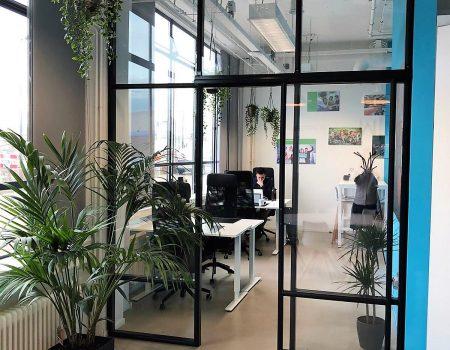 Batist aluminium kantoor tussengevel