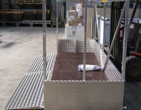 Batist alumium hijsbak veilig werken