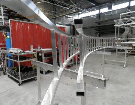 Aluminium ladder walsen radius