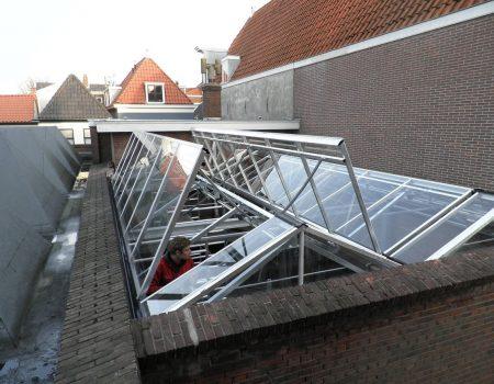 Batist lichtstraat type cabrio max air enkel glas restaurant in Delft