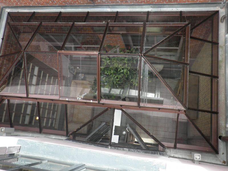 klassieke lichtstraat enkel glas type zadeldak