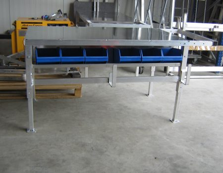 Aluminium werktafels