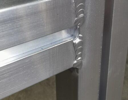 Aluminium tig lasdetail