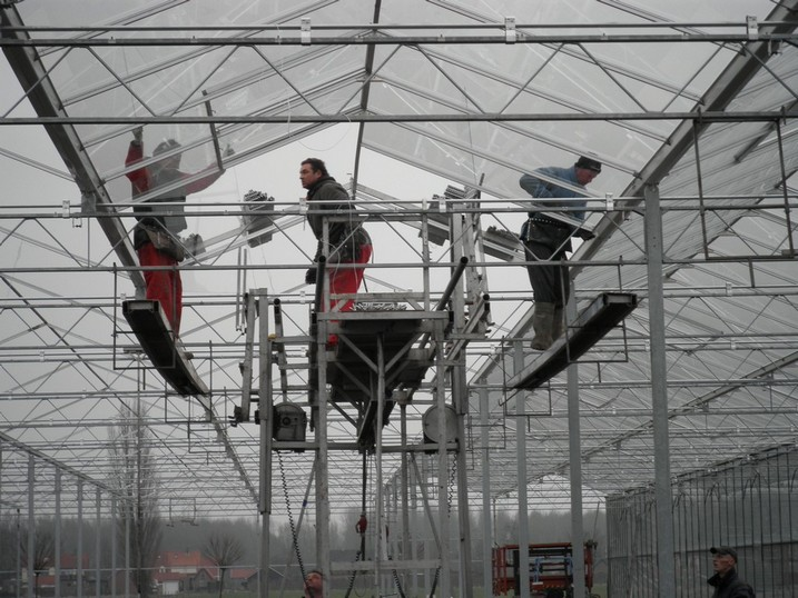 Batist Venlo glasshouse hanging glazing machine 3.20m and 4.00m size, pic. 4