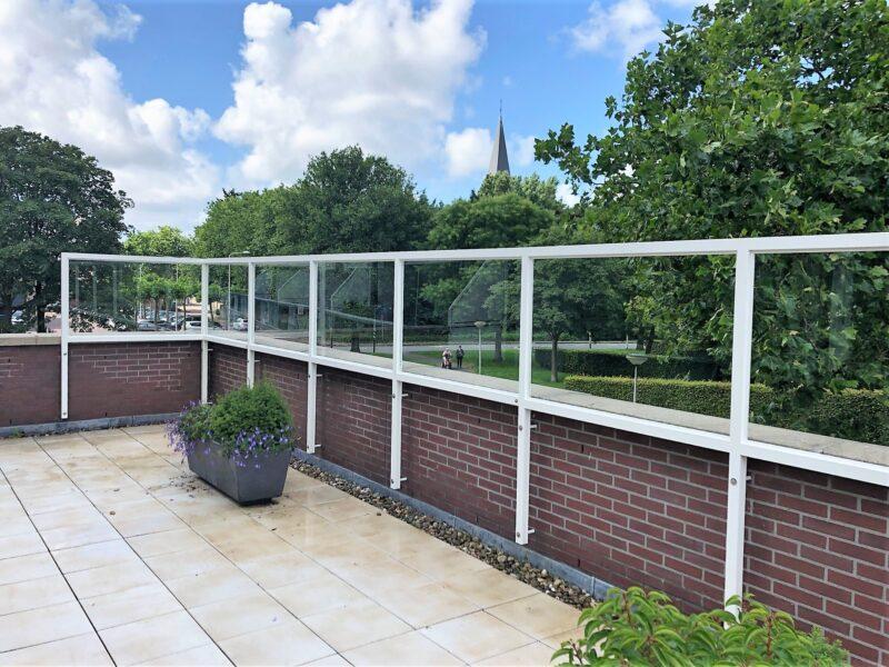 Balkonscherm Naaldwijk hoekscherm